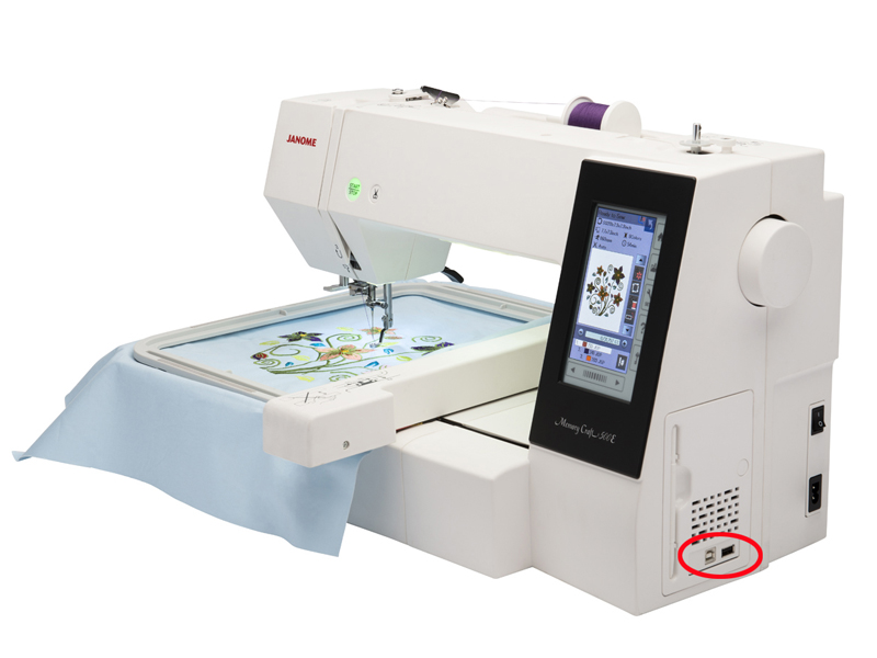 Janome MC 500e - USB flash